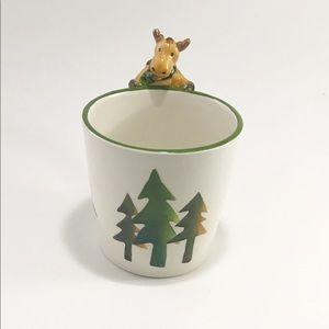 Harry and David moose & trees holiday mug